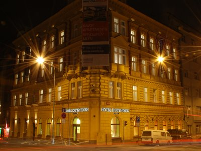 EA Hotel Downtown**** - hotel building by night